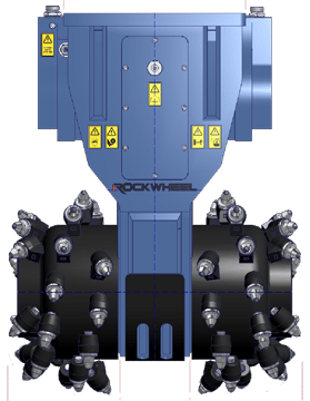 G55 RockWheel Drawing Front view