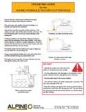 Download the ALPINE Cutter Head Operating Guide