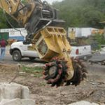 alpine rockwheel excavating application