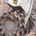 alpine rockwheel stump grinding application